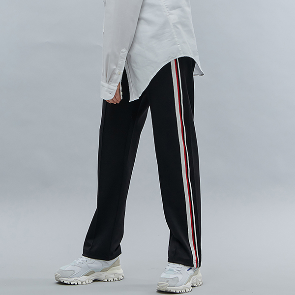 LINE TAPE TRACK PANTS BLACK