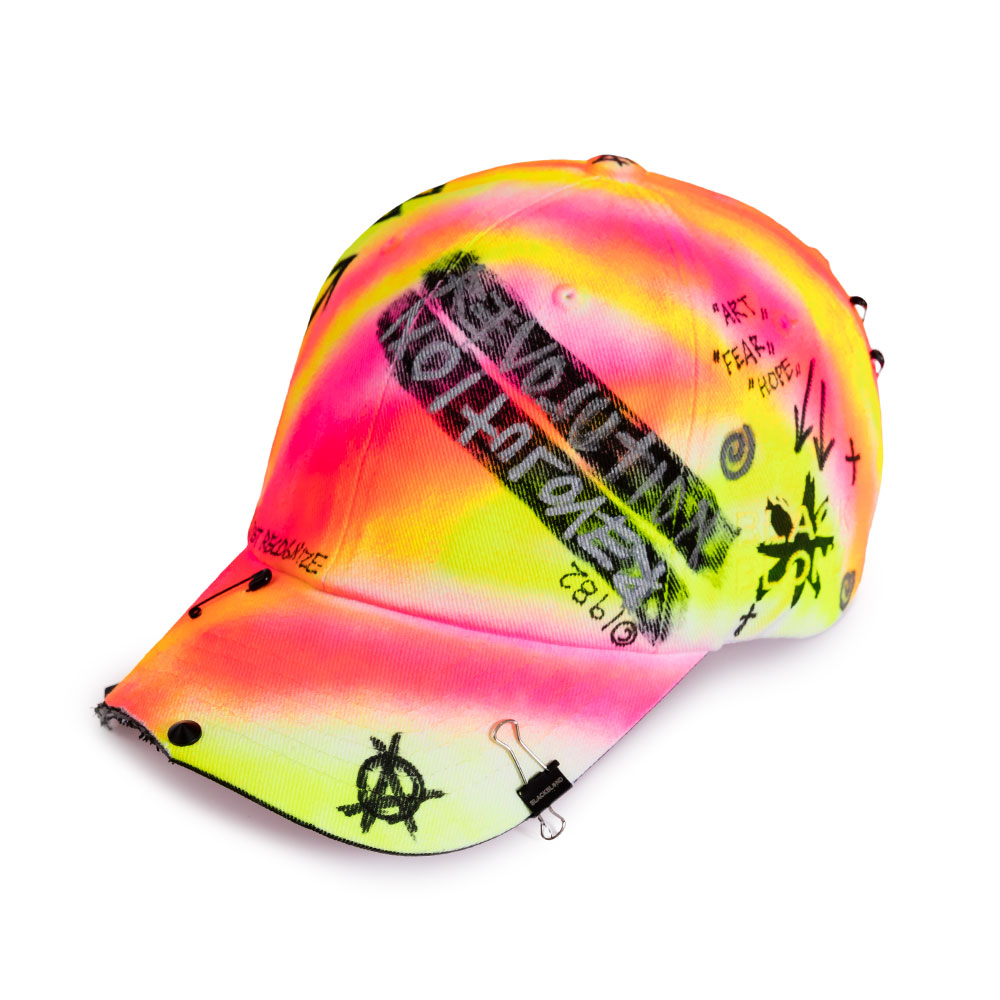 BBD Side Logo Lollipop Graffiti Cap (Pink/Neon)