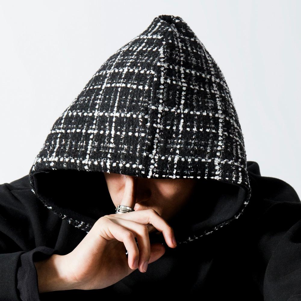 BBD Tweed Hoodie (Black)