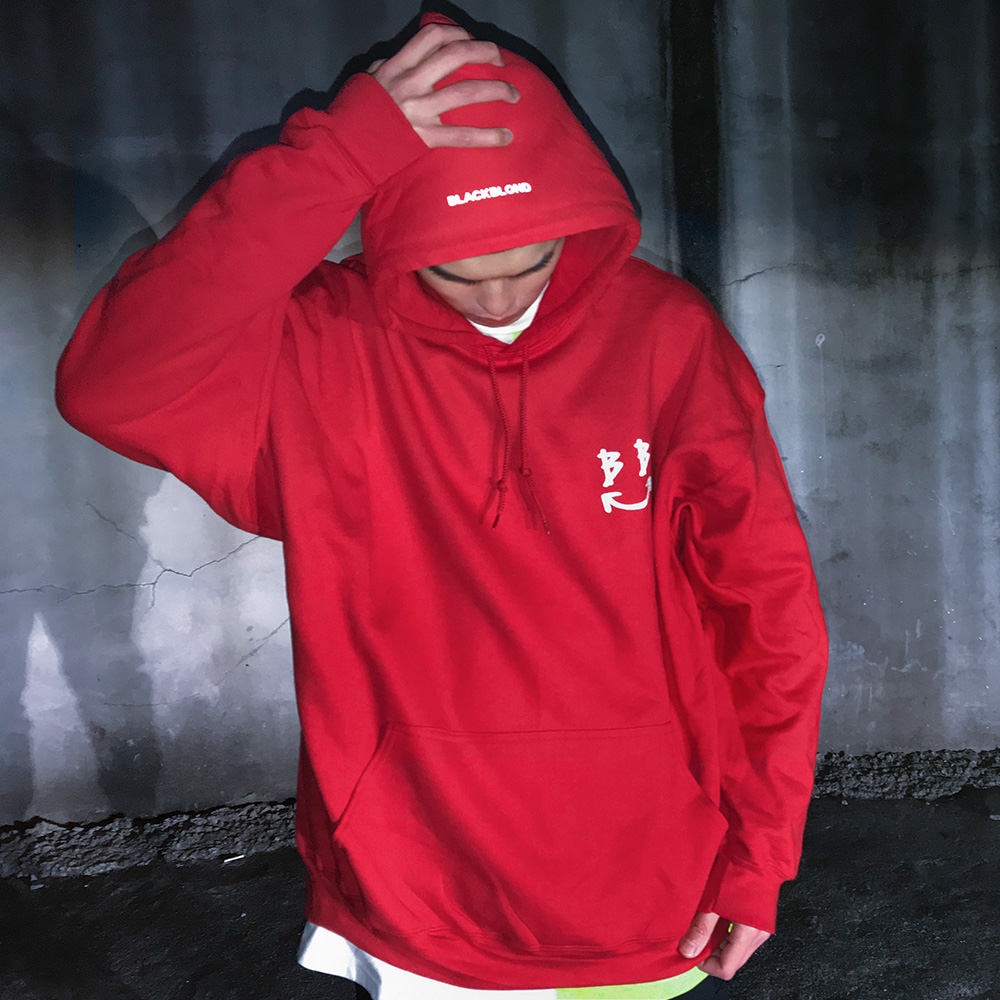 BBD Reflective Smile Logo Hoodie (Red)