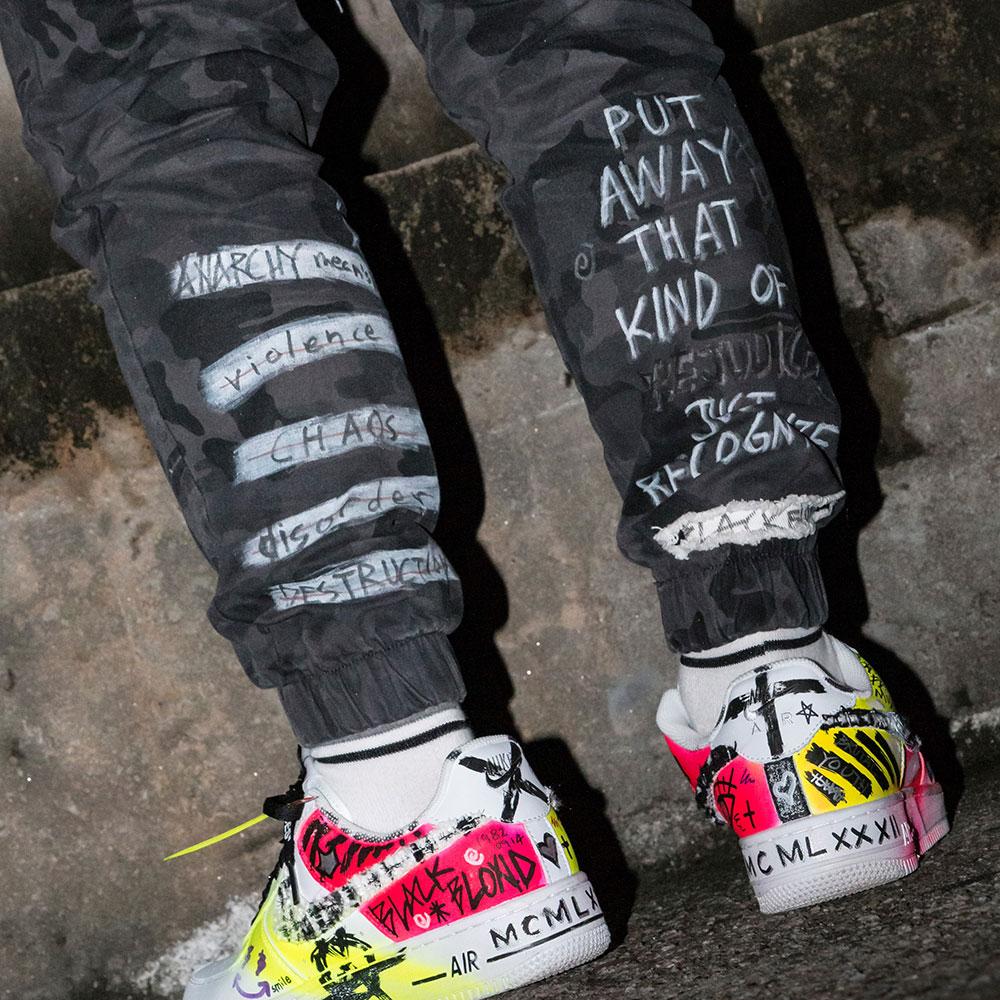 BBD Graffiti Camo Jogger Pants (Grey)