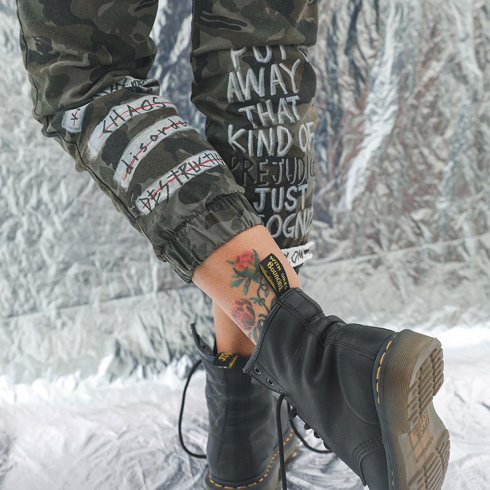 BBD Graffiti Camo Jogger Pants (Khaki)