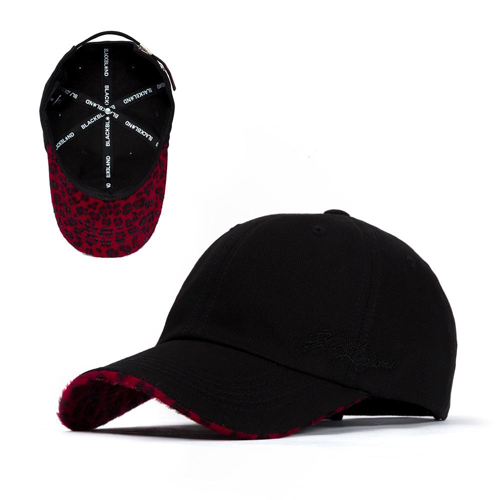 BBD Script Logo Calf Leopard Cap (Black/Red)