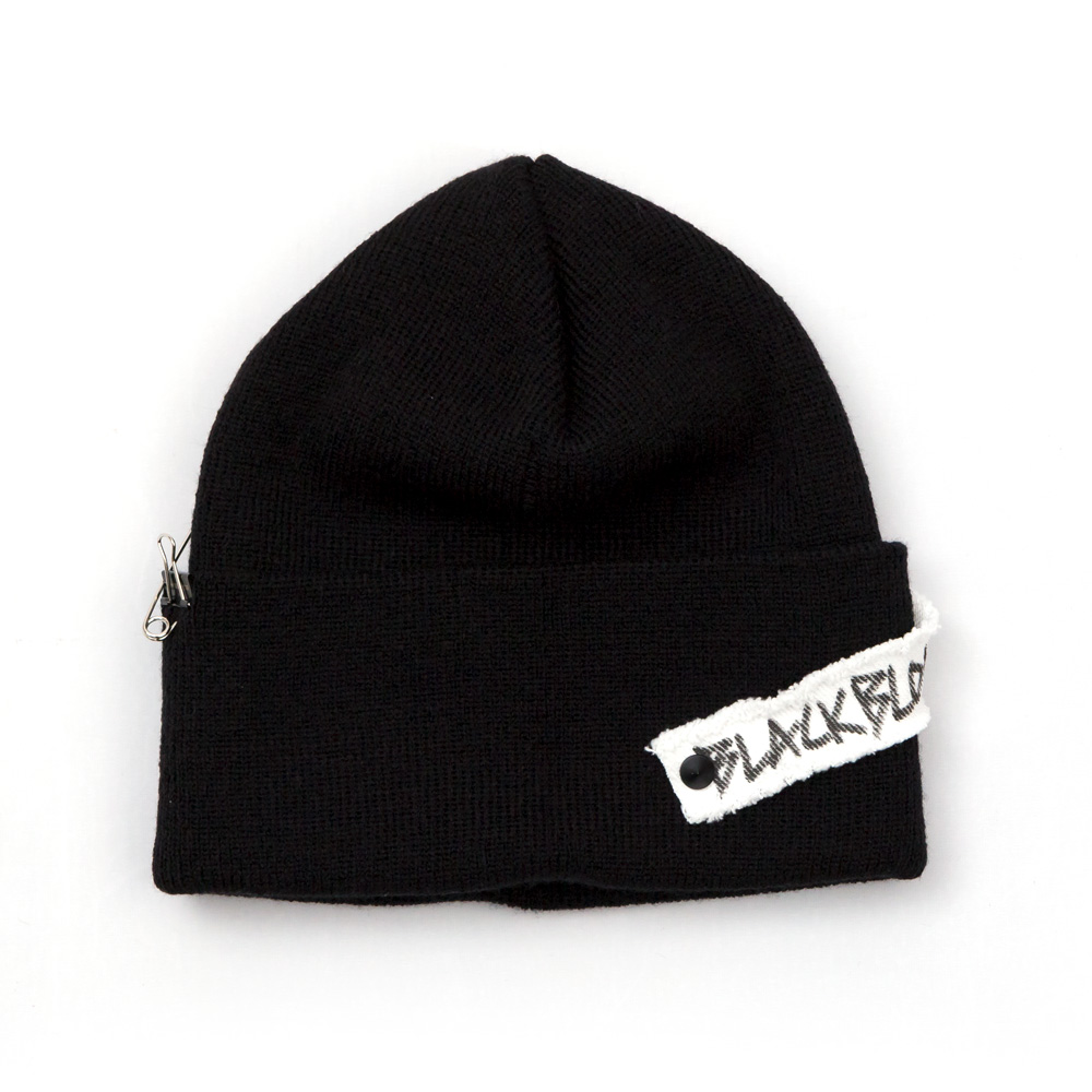 BBD Side Patch Long Beanie (Black)