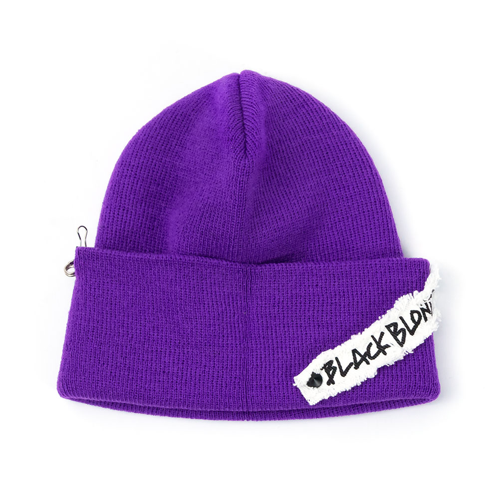 BBD Side Patch Long Beanie (Purple)
