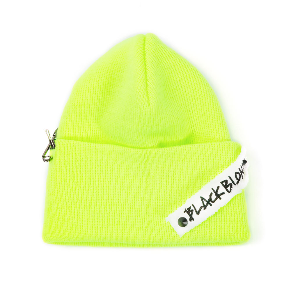 BBD Side Patch Long Beanie (Neon)