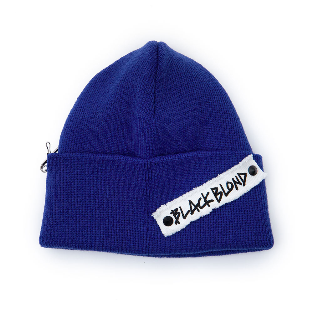 BBD Side Patch Long Beanie (Blue)