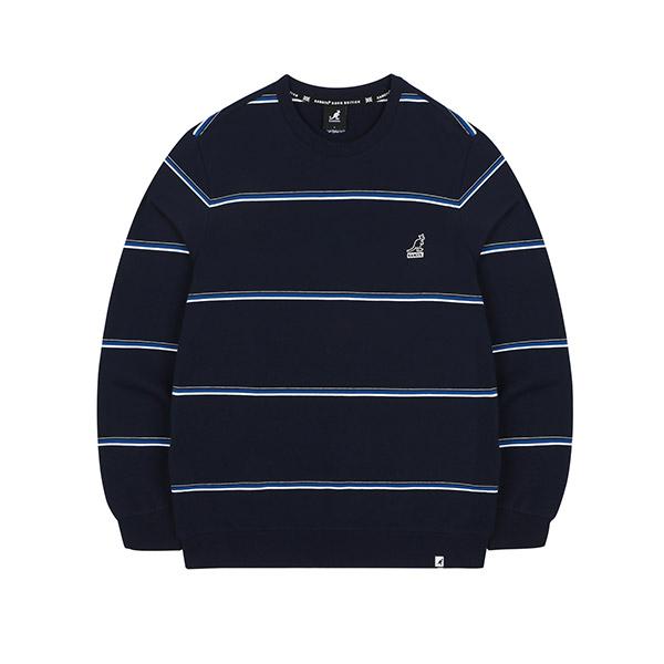 [한정특가]Wide Stripe Sweatshirt 1611 NAVY