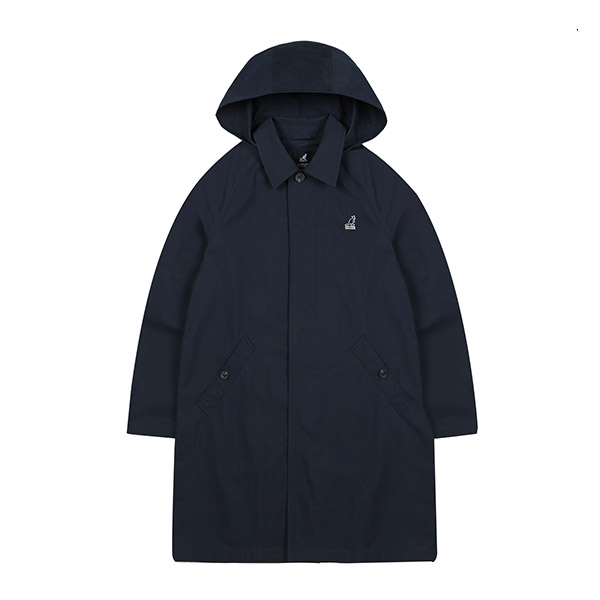 Hooded Trench Coat 6503 NAVY