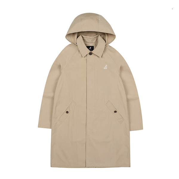 Hooded Trench Coat 6503 BEIGE