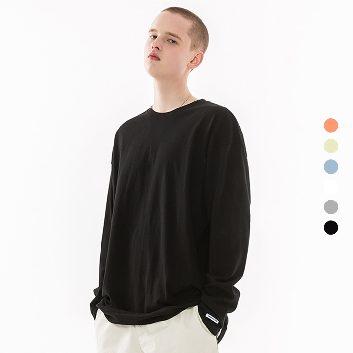 [minimal project] 미니멀프로젝트 오버핏 롱 슬리브 티셔츠 MLT101 / 6color