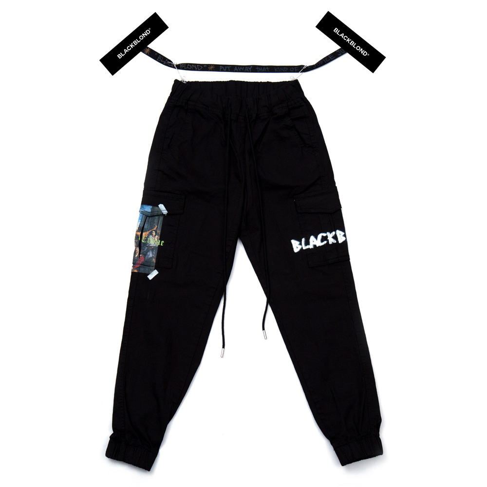 BBD Innocent Cargo Jogger Pants (Black)