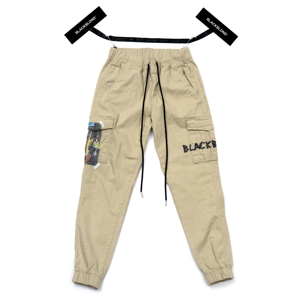 BBD Innocent Cargo Jogger Pants (Beige)