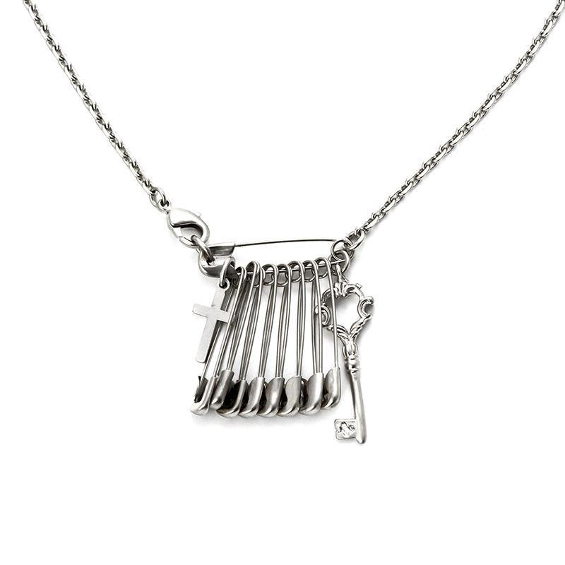 SVN-#125 옷핀십자가목걸이