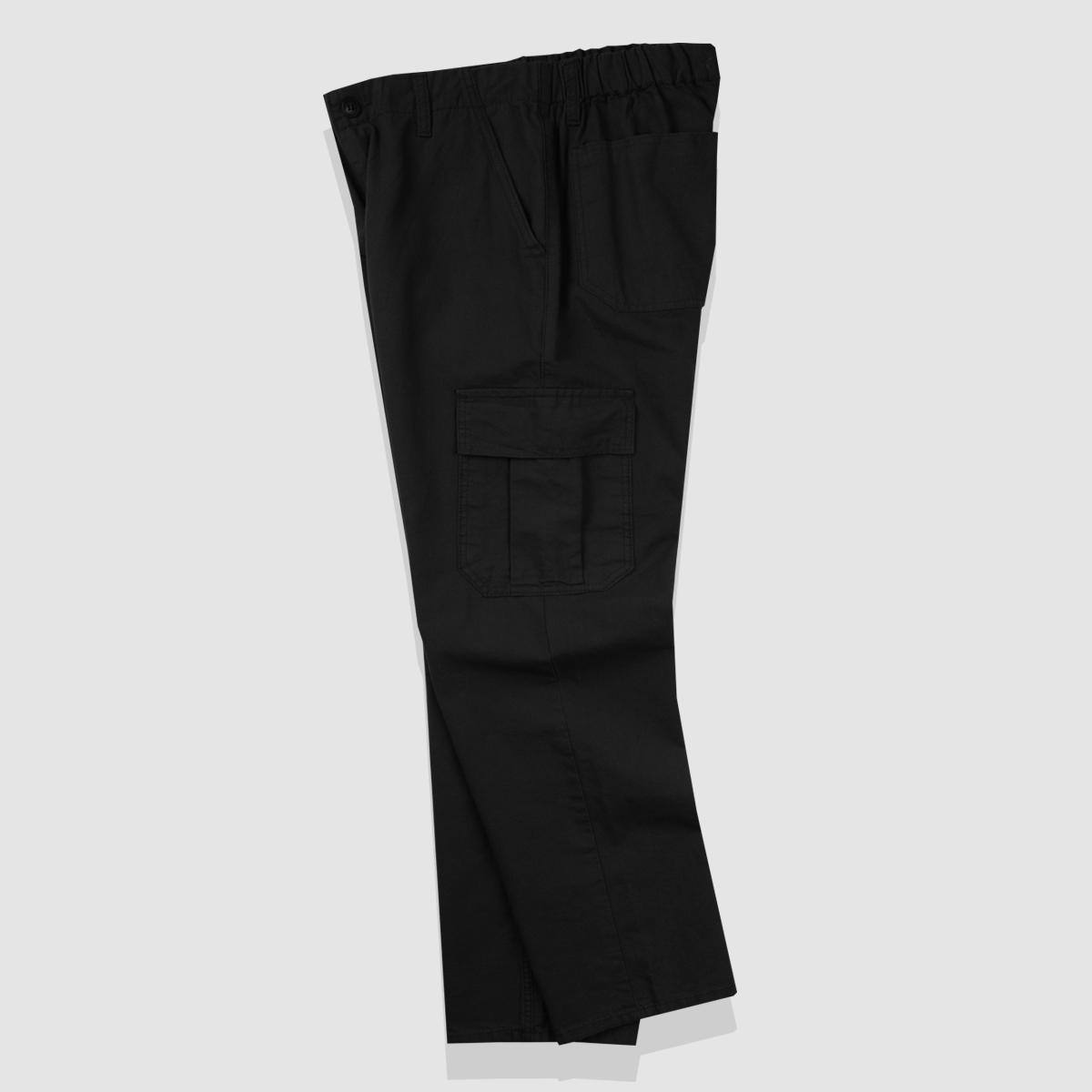 [UNISEX] 코튼 밴딩 카고팬츠(블랙)