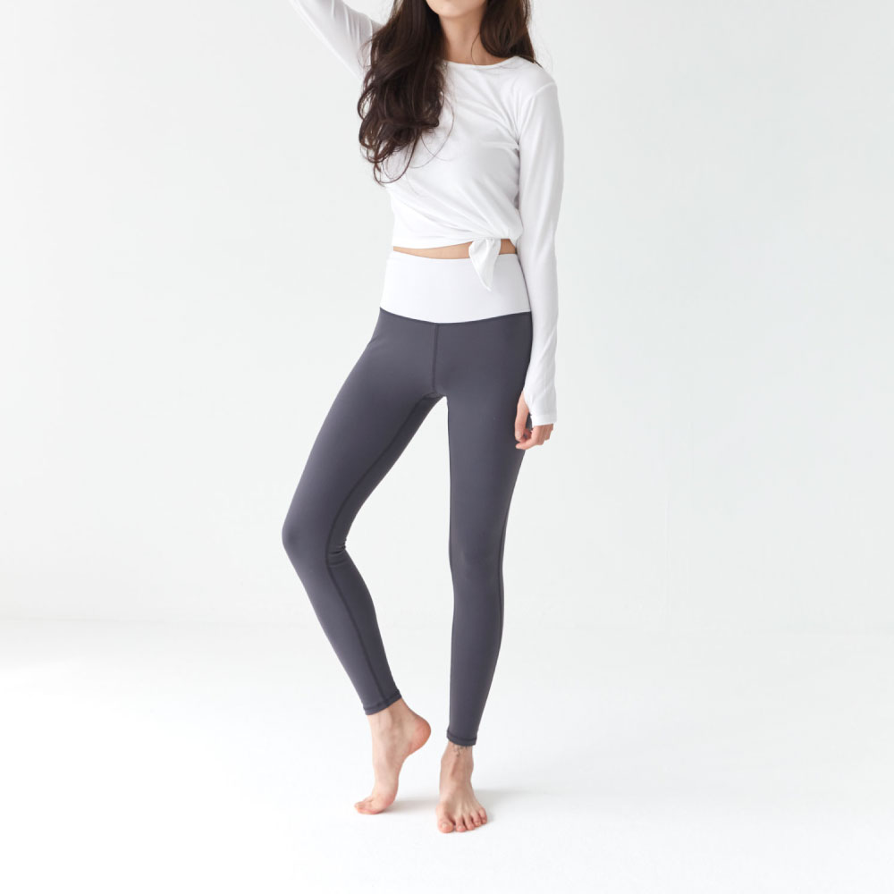 Heart Hip Leggings Gray