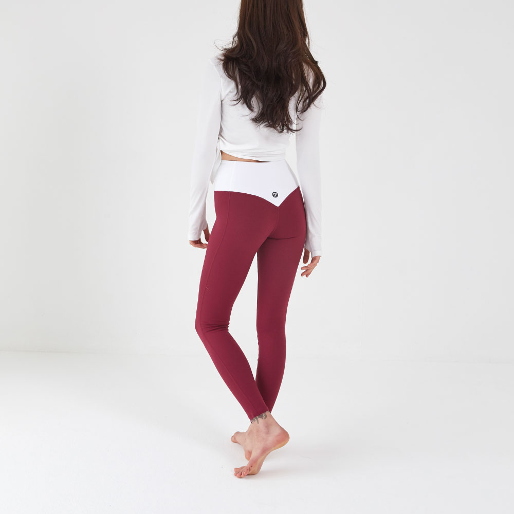 Heart Hip Leggings Wine