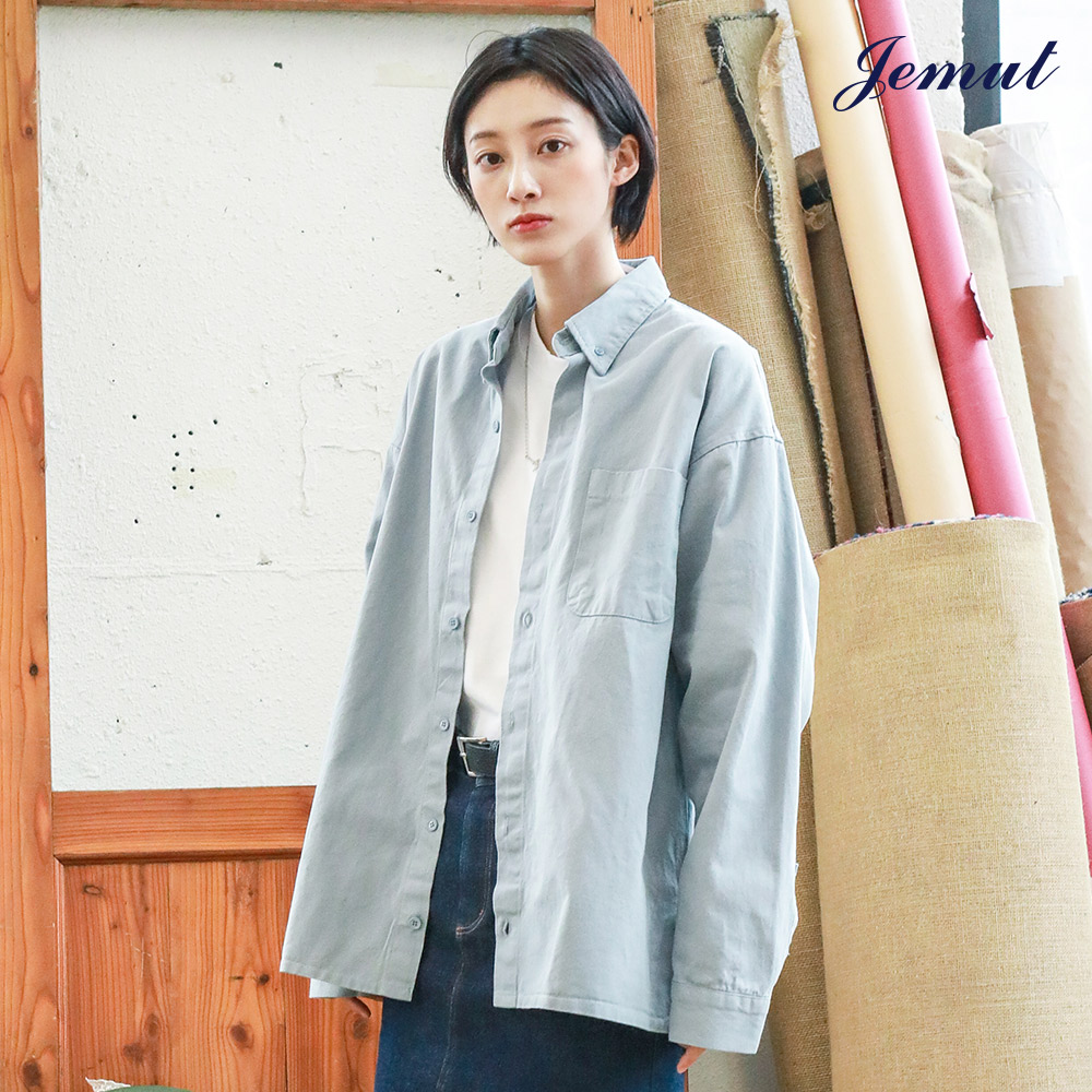 [제멋] [기획특가] 제니 오버핏 셔츠 소라 YHLS2185
