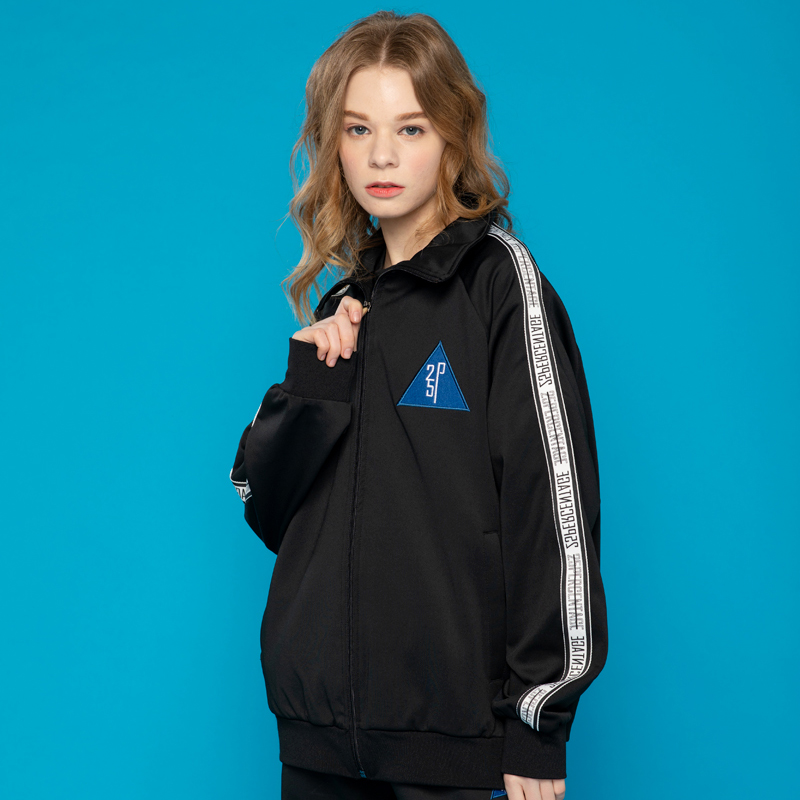 [이십오퍼센테이지] 25P LOGO TAPE TRACK TOP_black(black line) [트랙탑]