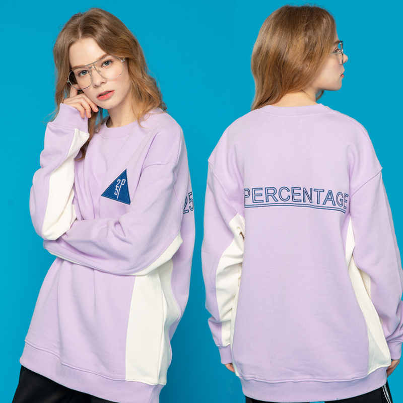 [이십오퍼센테이지]25P COLOR EFFECT SWEAT SHIRT_light purple [맨투맨]