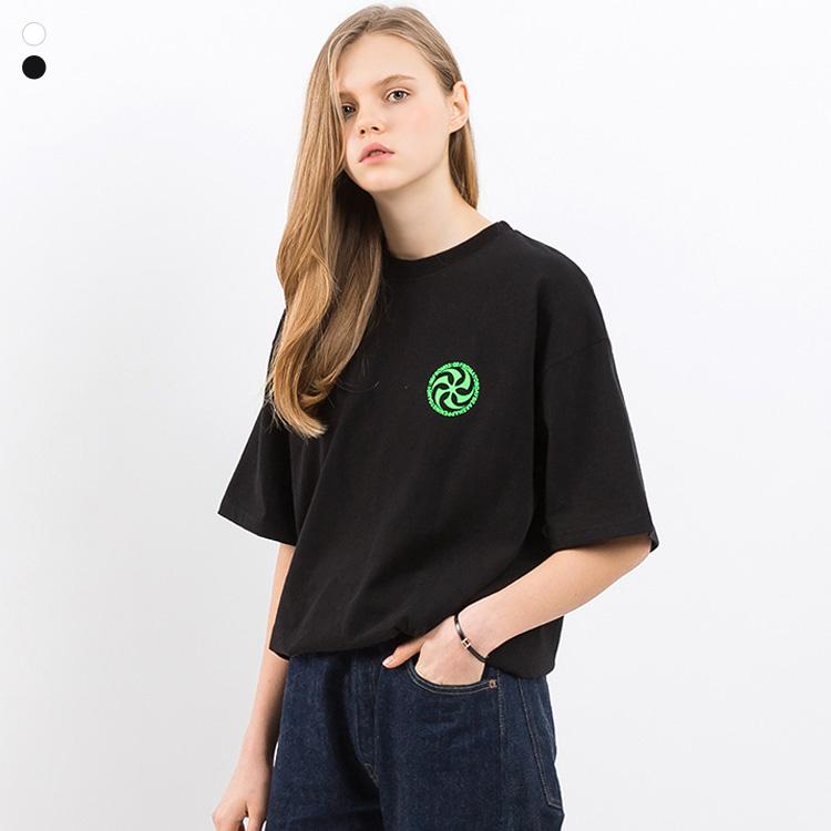 프롬에이투비 반팔 티셔츠 TOB19ST009 페버릿 플레이리스트 오버핏 티셔츠