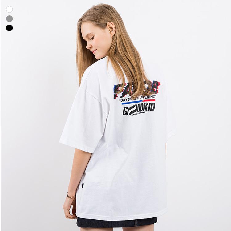 [크루비단독]프롬에이투비 반팔 티셔츠 TOB19ST008 에이투비 글리치 로고 오버핏 티셔츠