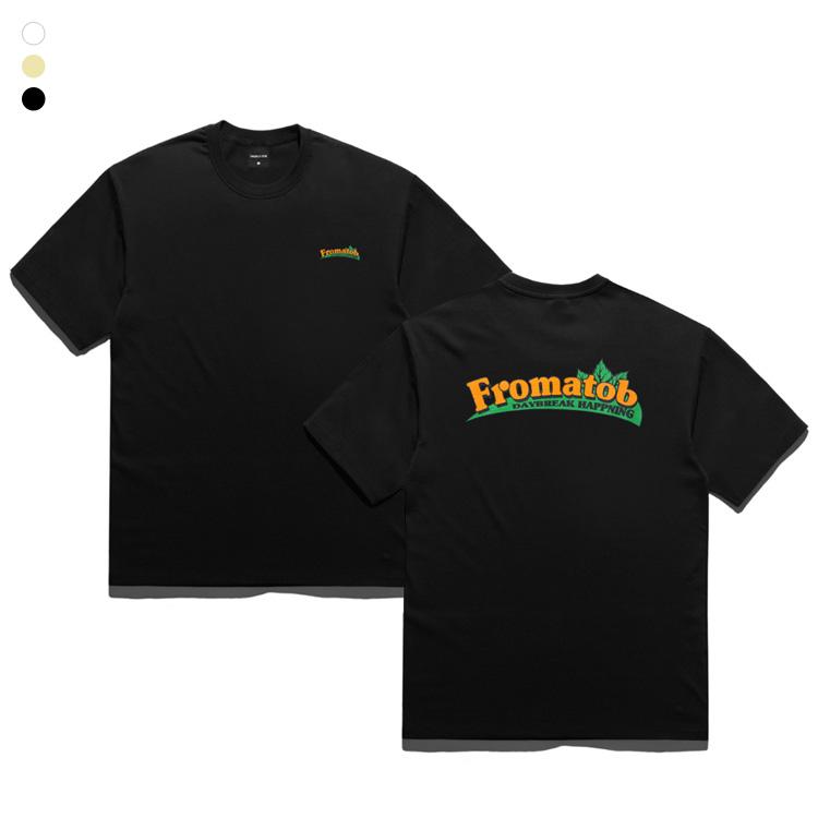 프롬에이투비 반팔 티셔츠 TOB19ST005 스모킹 팜 오버핏 티셔츠