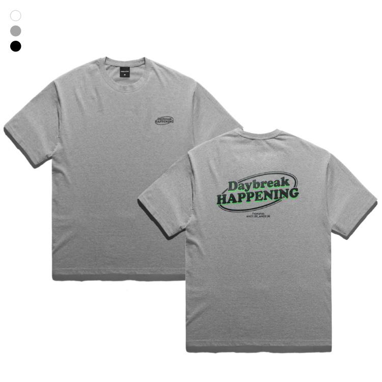 [단독할인]프롬에이투비 TOB19ST004 데이브레이크 해프닝 네온 쉐도우 오버핏 반팔티셔츠
