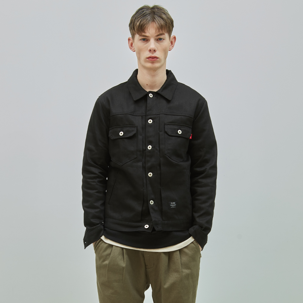 19SS COTTON TRUCKER JACKET (BLACK)