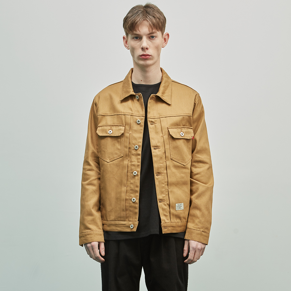 19SS COTTON TRUCKER JACKET (BROWN)