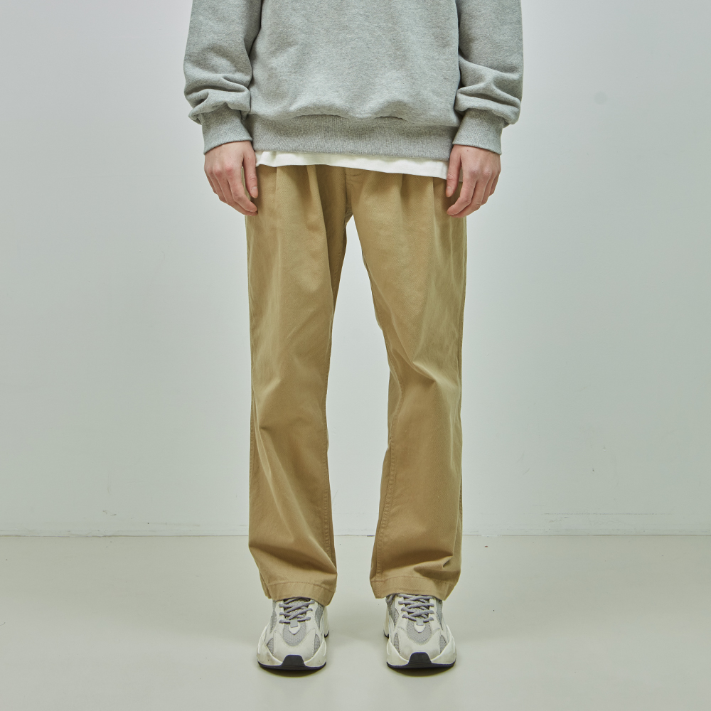 19SS COTTON EASY PANTS (BEIGE)