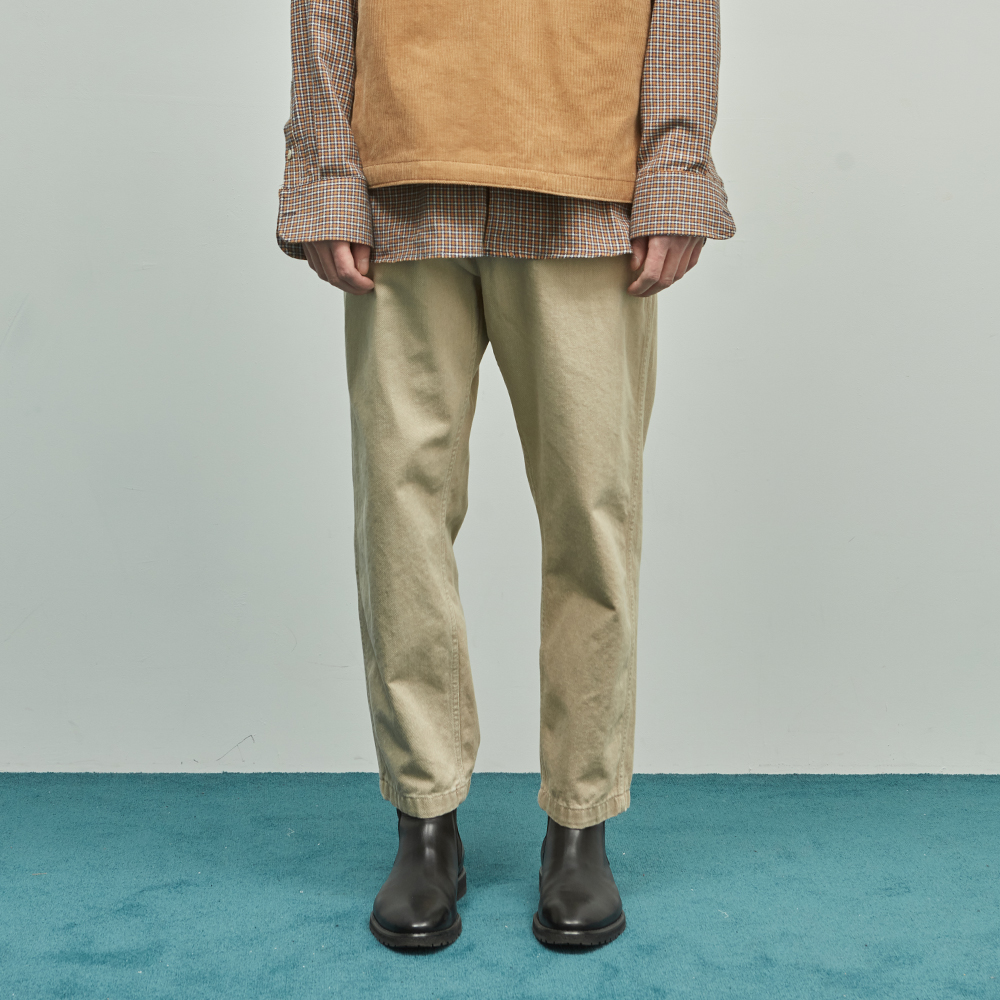19SS TAPERED ANKLE CHINO PANTS (BEIGE)
