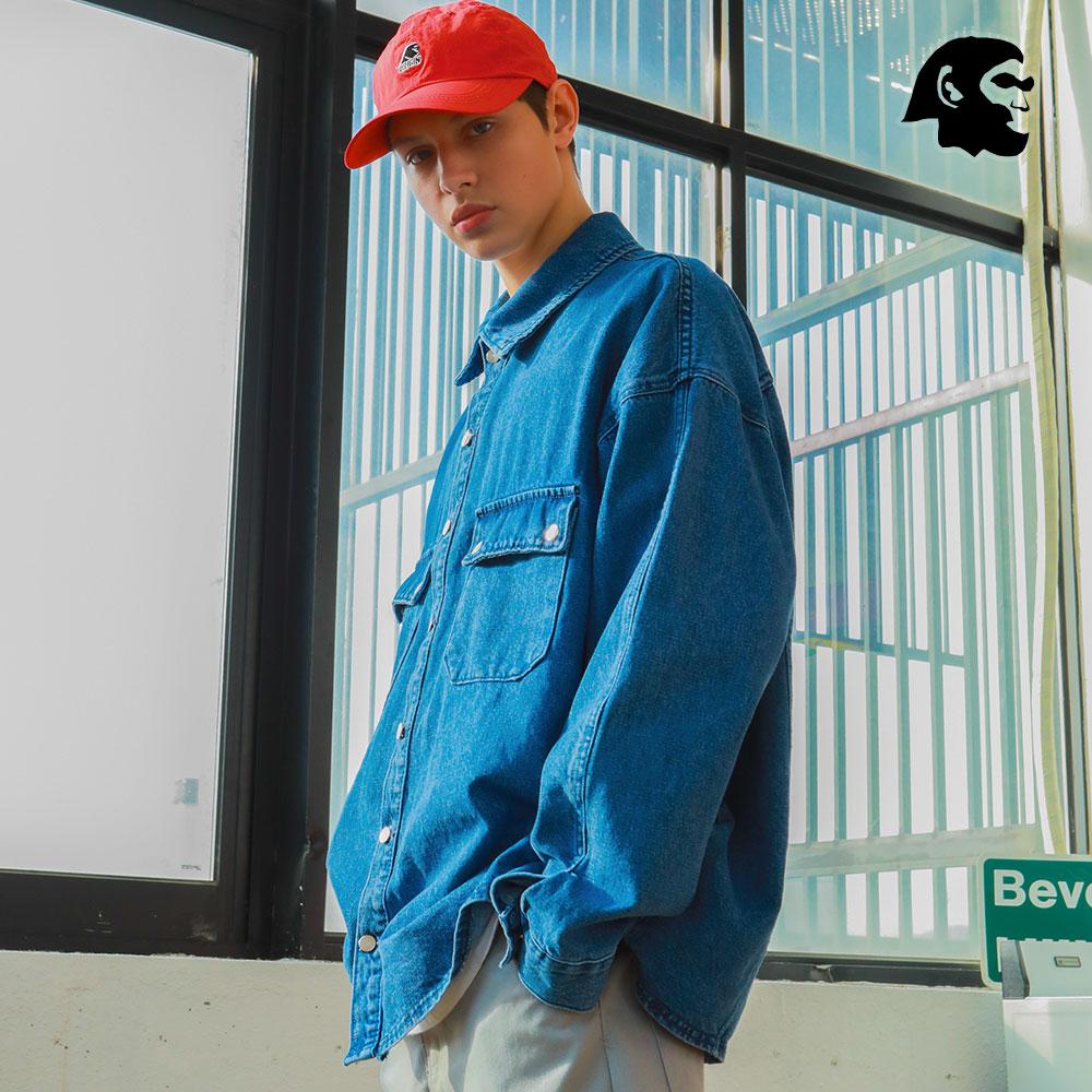 [퍼스텝] 스피릿 데님 셔츠 자켓 블루 JUOT4231