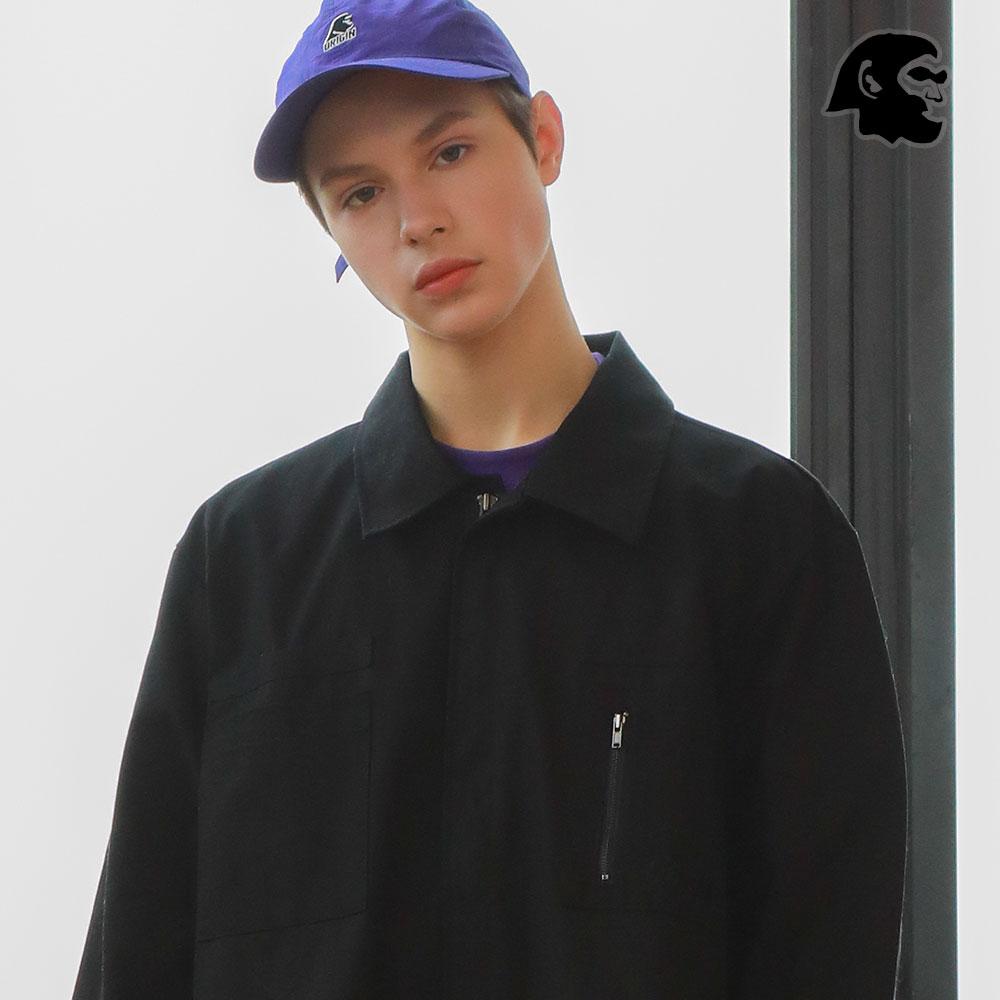 [퍼스텝] 레벨 집업 셔츠 검정 MSLS4226