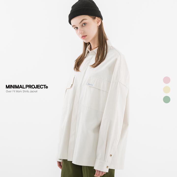 [minimal project] 미니멀프로젝트 코튼 헤비 오버핏 워크셔츠 자켓 IJK19ZB802 / 3color