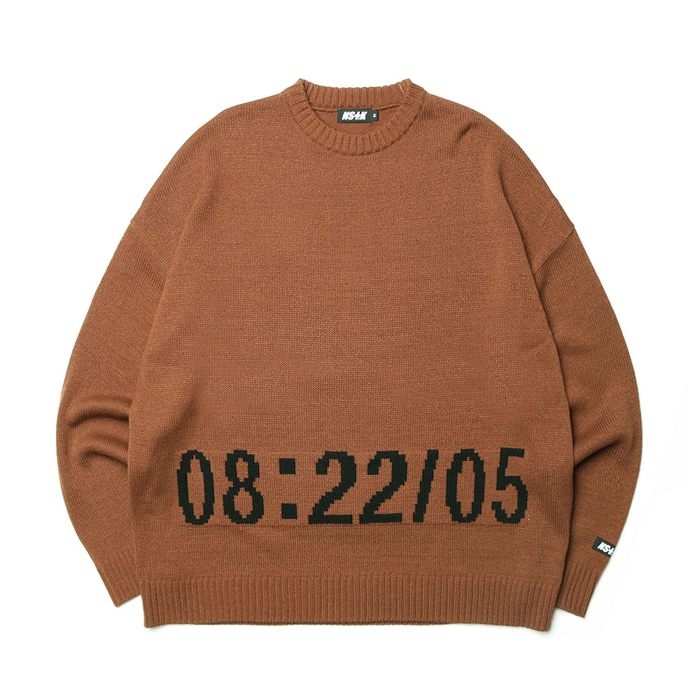 [NK] NSTK 05STN KNIT BROWN (NK19S025H)