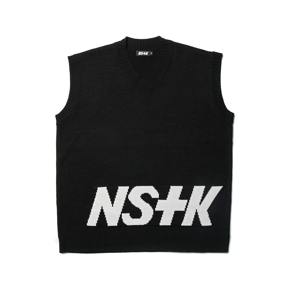[NK] NSTK STANDING KNIT VEST BLK (NK19S021H)
