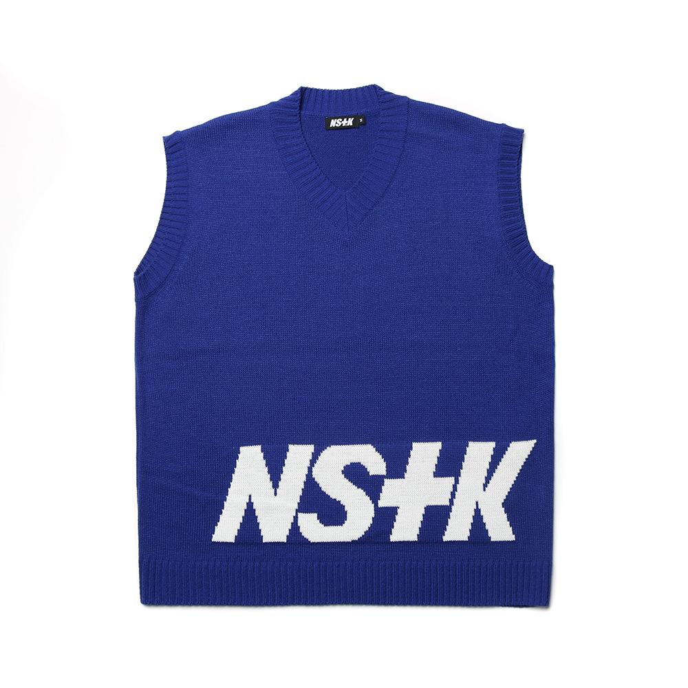 [NK] NSTK STANDING KNIT VEST BLUE (NK19S021H)