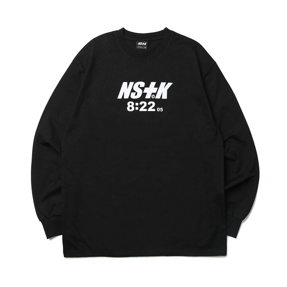 [NK] NSTK 822 SPLIT LONGSLEEVE TEE BLK (NK19S019H)