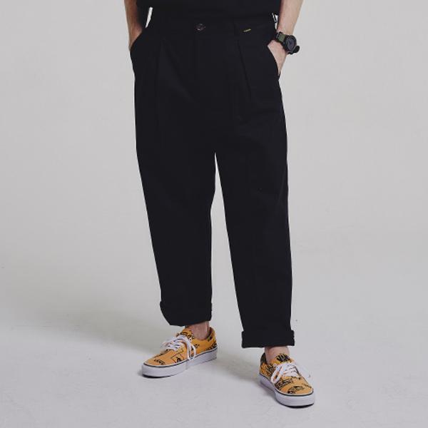 HBT wide pants_BLACK
