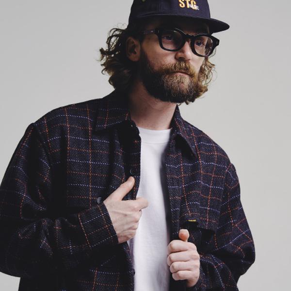 Square shirts jacket_GREY
