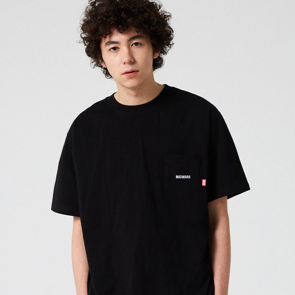 NORMAL POKET T-SHIRT_BLACK