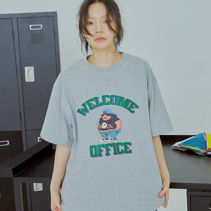 웰컴 오피스 반팔 / 그레이