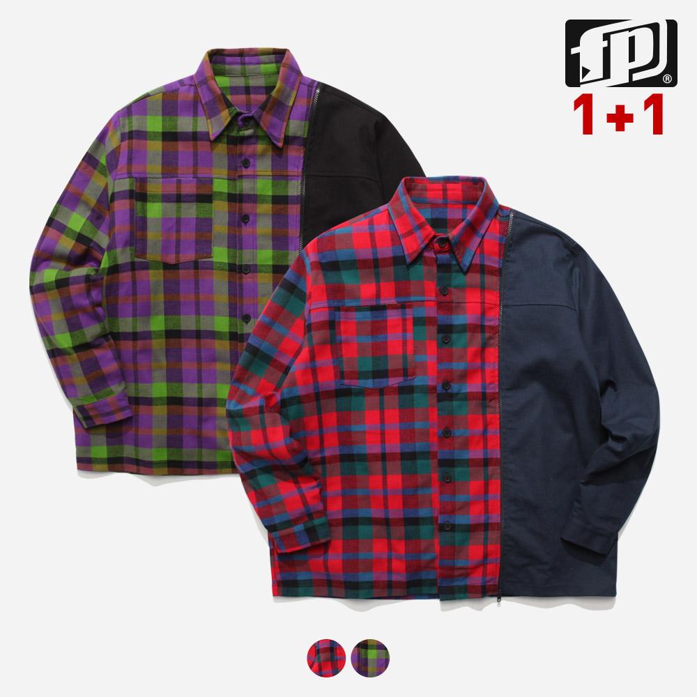 [페플] 도킹체크 셔츠 2종 JHLS1153 1+1