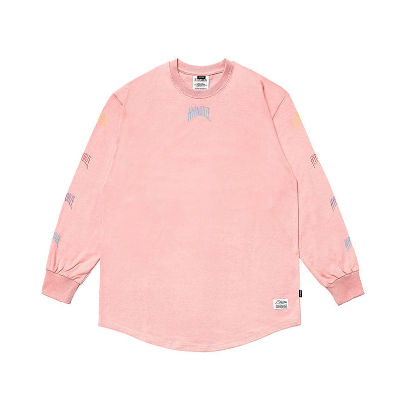 STIGMA HYPNOTIZE LAYERED LONG SLEEVES T-SHIRTS PINK