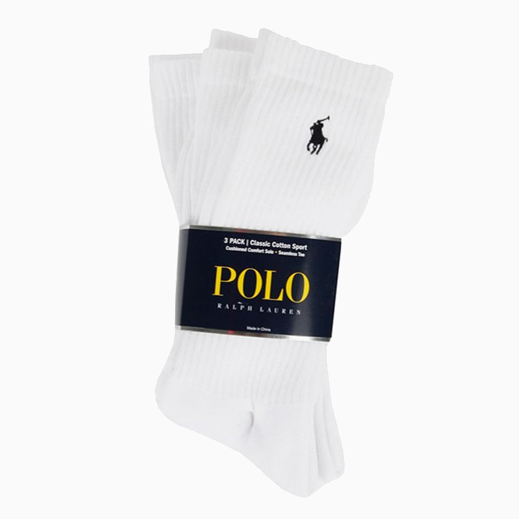 [국내배송]폴로 양말 CLASSIC COTTON SPORTS SOCKS 3PACK WHITE