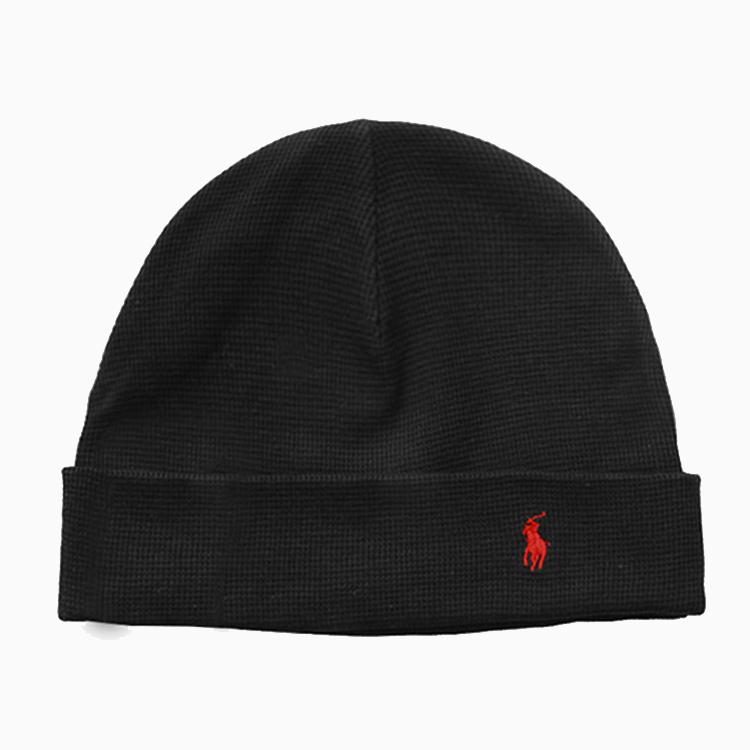 폴로 비니 THERMAL CUFF HAT BLACK