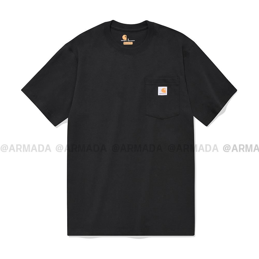 [단독할인][국내배송]칼하트 정품 K87 포켓 반팔티 블랙