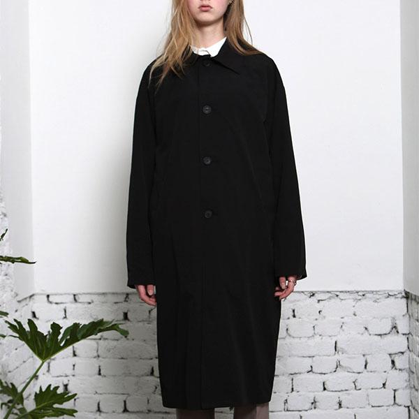 UNISEX SINGLE TRENCH COAT BLACK