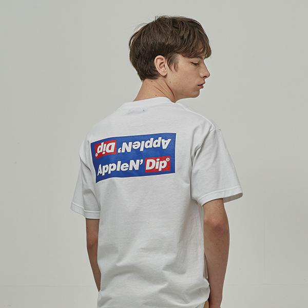 로고 포인트 박스 티셔츠 2Color
